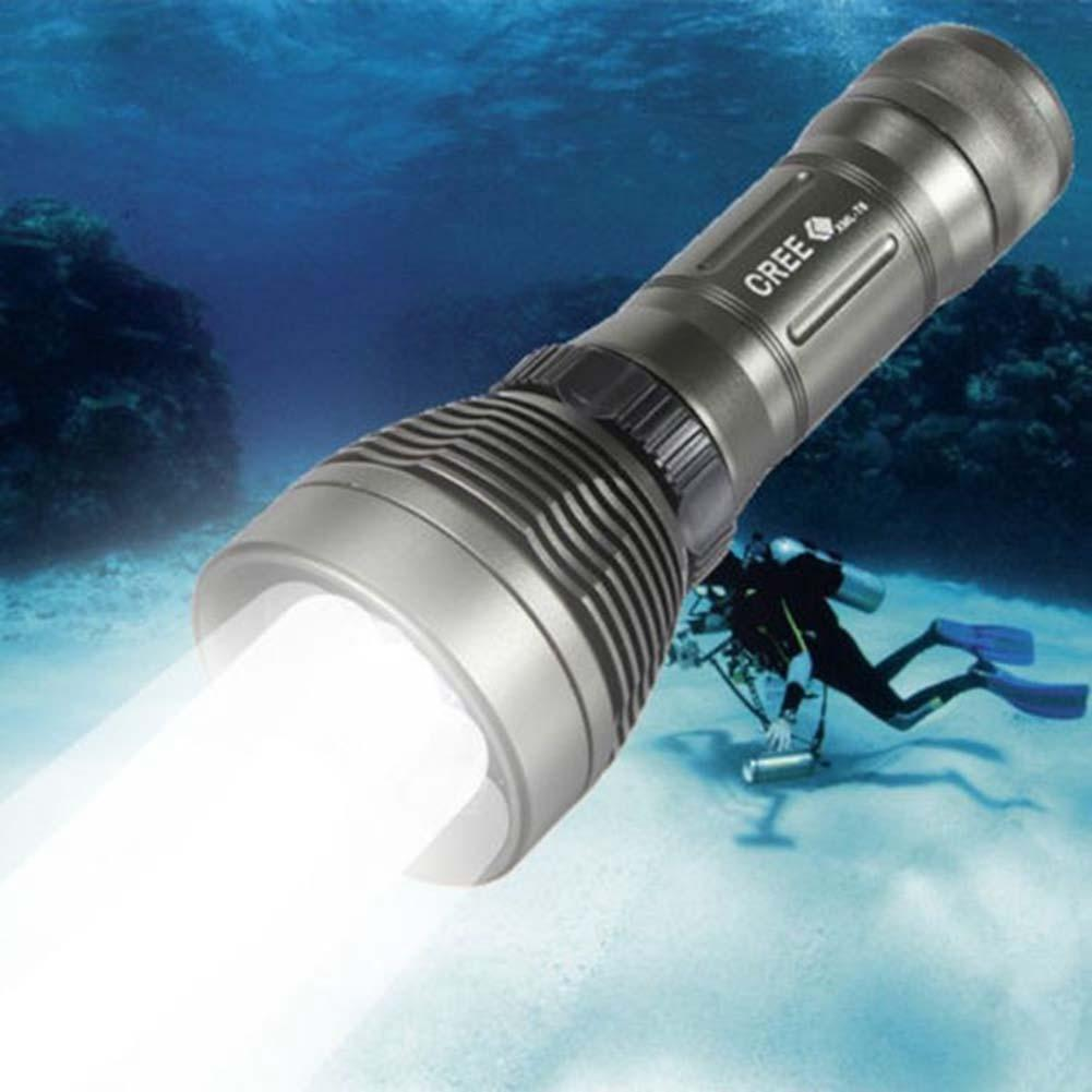 Top Quality Underwater CREE XM-L T6 2600LM 8-Mode LED Diving Flashlight Torch Brightness Waterproof 80m White Light LED Torch scuba dive light