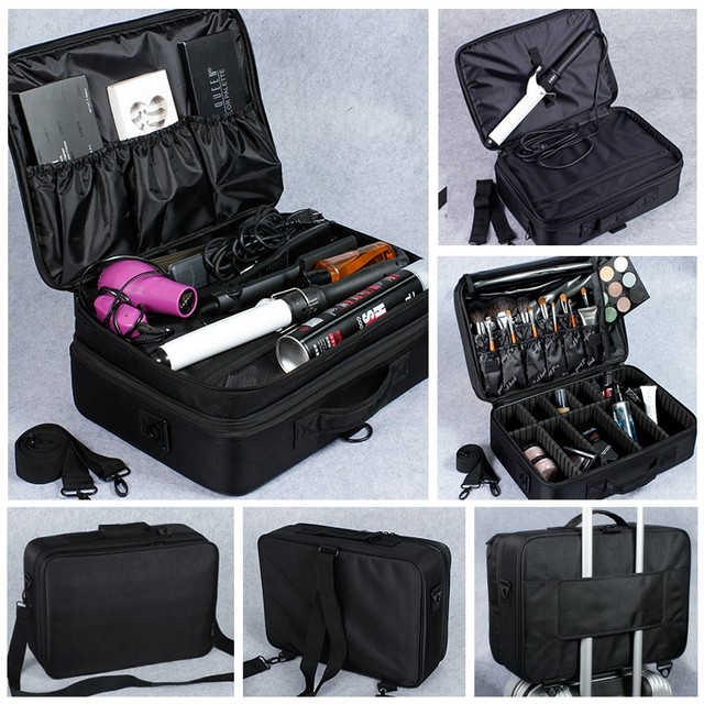 SAFEBET Brand Women High Quality Waterproof Oxford Large Multi-Storey Professional Makeup Organizer Bolso Mujer Cosmetic Case 4