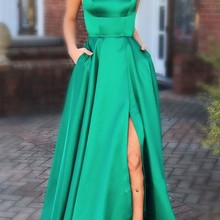 0084642368 New Sexy Backless High Slit Prom Dress Long 2019 Beaded V-neck Tulle Party  Gowns