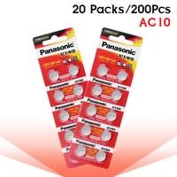 200pcs/lot 100% Original Panasonic 1.5V AG10 389 LR54 SR54 SR1130W 189 LR1130 AG10 LR1130 Alkaline Button Coin Cell Battery