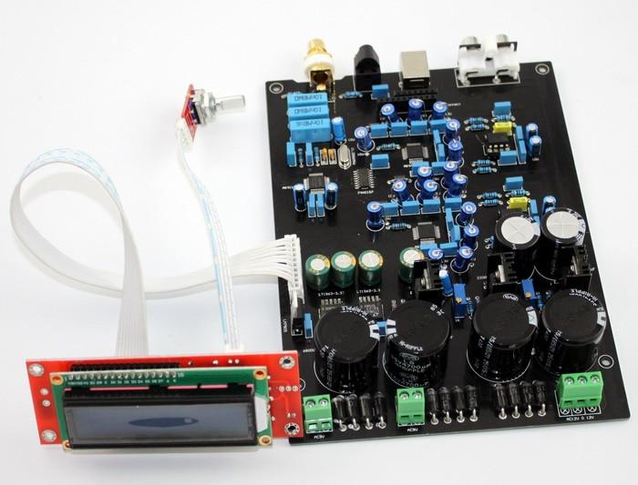 DAC AUDIO amplifier board AK4490EQ double and soft control board Support DOP DSD Optical fiber, coaxial USB input