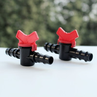 16mm 20mm Barbed Straight Valve Irrigation Connector PE Pipe Agriculture And Home Garden Irrigation Z117