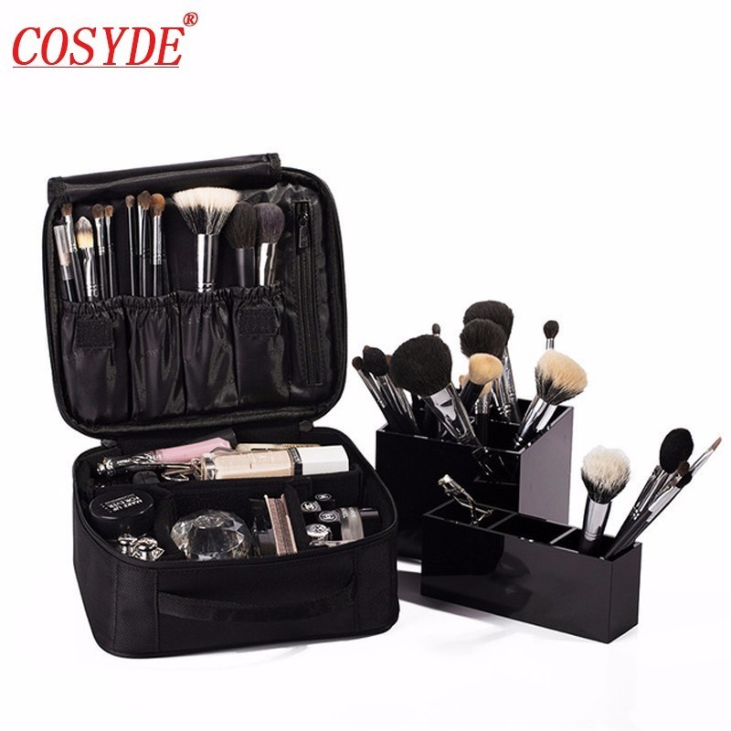 Travel Fashion Cosmetic Case Women Tote Cosmetic Bag Portable Ladies Professional Makeup Bag Organizer Storage Bag Suitcases portable cosmetic bag suitcases makeup beauty professional multi function cosmetology tattoo eyebrow teacher manicure case