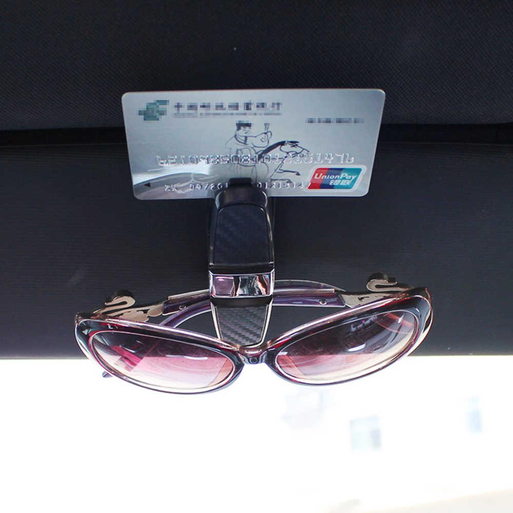 Очки Чехол автомобилей интимные аксессуары козырек зажим-держатель на солнцезащитные очки для женщин держатель Ford Focus VW мужские поло mercedes Audi BMW