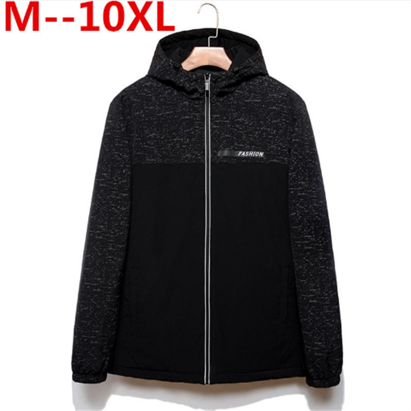2017 NEW Hot Selling Fashion Casual winter jacket men Coat Quality Jacket  Plus Size 8XL 6XL Wholesale Cotton-padded clothes