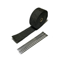 5m Heat Exhaust Thermo Wrap Shield Protective Black Tape Fireproof Insulating Cloth Roll Kit For Motorcycle
