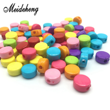 150PC Acrylic Square Small Circle Rich Candy Color DIY Handmade Beads Child For Jewelry Design Making Decoration Childrens Gift