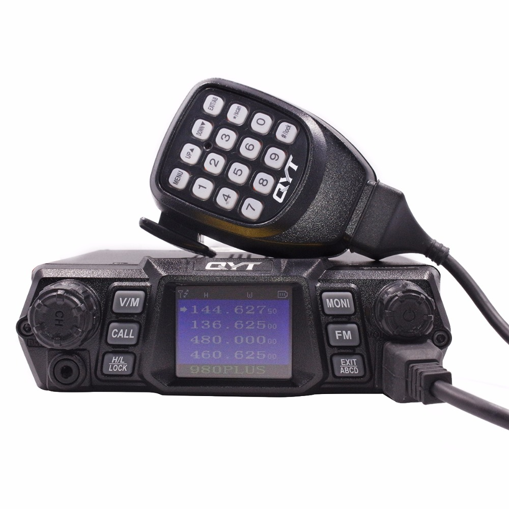 QYT KT 980 PLUS High Power 75W(VHF)/55W(UHF) Dual Band Quad Standby Base Mobile Radio KT 980Plus Car Radio HAM KT980PLUS-in Walkie Talkie from Cellphones & Telecommunications    2