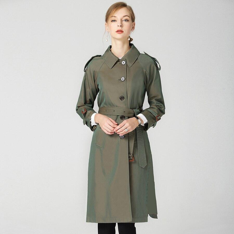 2018 Autunno Inverno Nuovo di Modo di Marca di Lusso B Impermeabile Elegante Vintage Classic Plaid Delle Donne Lungo Trench e Impermeabili cappotto femminile