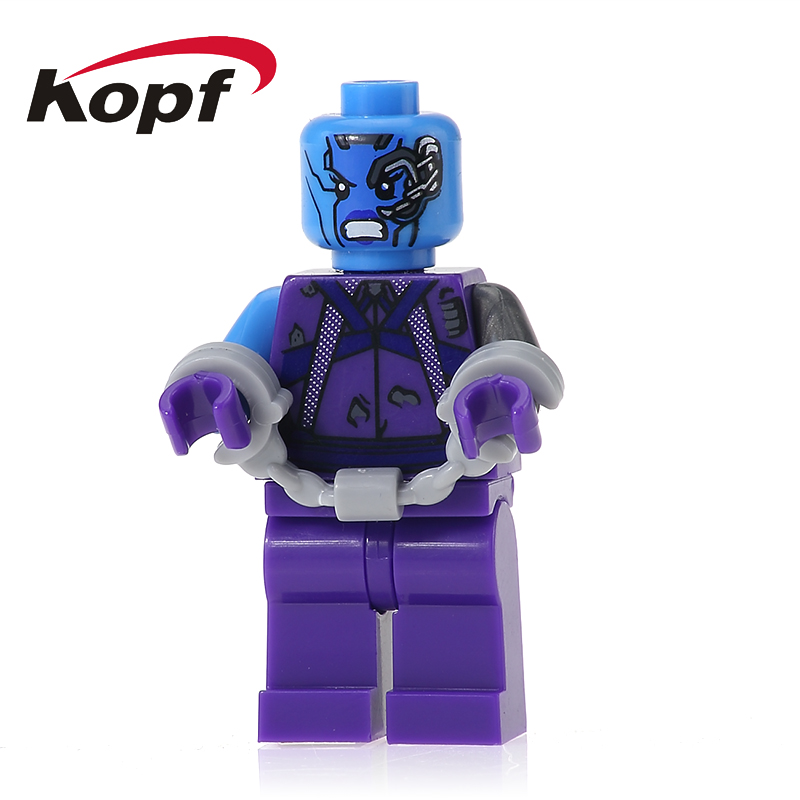 XH 608 Super Heroes Nebula Guardians of the Galaxy Chessman Rocket Racoon Building Blocks Best Collection Gift Toys For Children