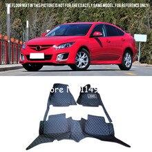 Для Mazda 6 M6 Atenza 5-дверей 2008-2012 стайлинга автомобилей Интерьер Передняя и задняя авто на заказ автомобиль коврики полный набор ковров