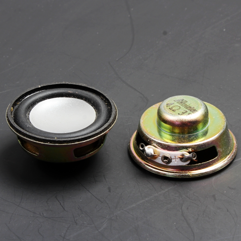 Acoustic Components Electronic Components & Supplies 10pcs 4r 3w 36mm Round Speaker Thickness 6.5mm Complex Film Bass Loud Speaker For High-end Toys E-book