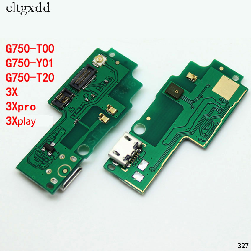 Cltgxdd USB Plug Port Charging Data Interface Charger Dock Board Microphone Flex Cable For Huawei Honor 3X G750 T00