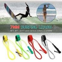 Высокое качество Весло Поводок для серфинга поводок для серфинга гладкий стальной поворотный серфинговый ножной трос гладкое стальное вес...