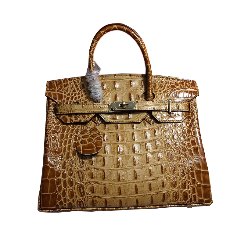 High Quality Genuine leather Gold hardware Famous Tote bag Shoulder Bags Women Crocodile Pattern leather Bags Luggage tag