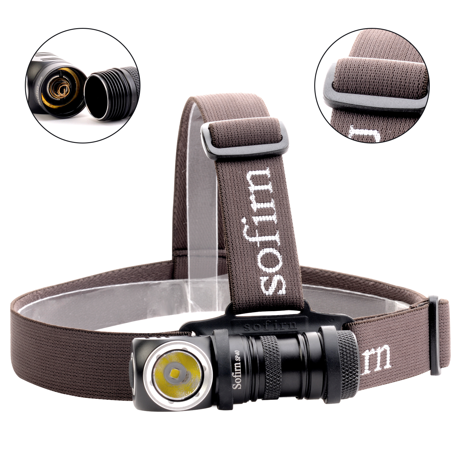 Sofirn SP40 LED Headlamp Cree XPL 1200lm 18650 USB Rechargeable Headlight 18350 Flashlight with Power Indicator Magnet Tail 2