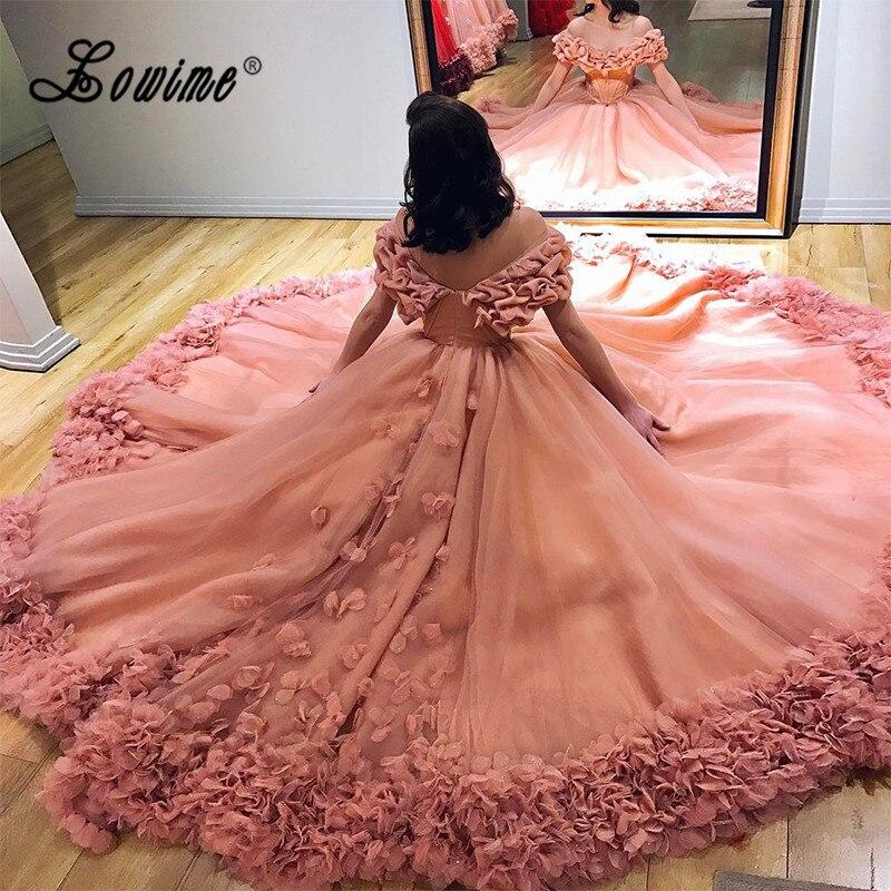 С открытыми плечами с длинным пухлый официальный вечерние свадебные платья арабский Для женщин бальное платье для выпускного вечера Couture