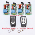 220V Wireless Remote Controller Wireless Power Switch System 4 Receiver& 2 Transmitter 1CH 10A Light Lamp LED SMD ON OFF