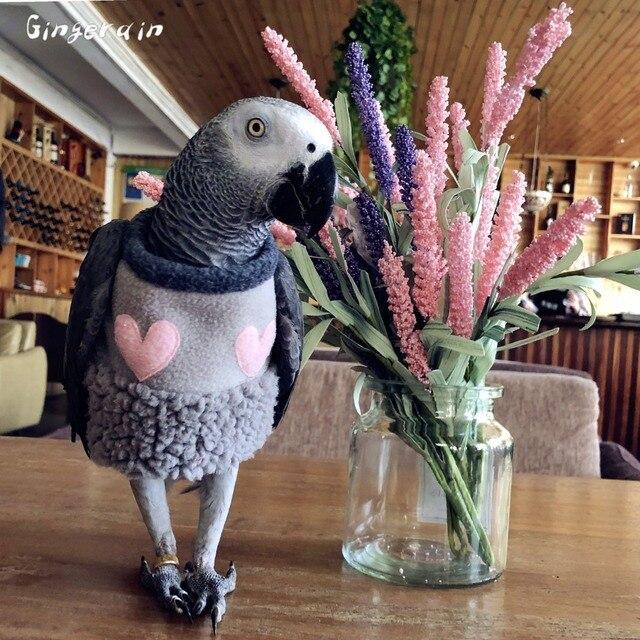 Gingerain Burung Pakaian Parrot Pakaian Kehilangan Bola Asli Buatan Tangan Kustom Burung Bertudung Sweater Kehilangan Bola