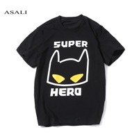2017 T Shirts Men Fashion Kawaii Anime Batmen Men Short Sleeve ASALI Band T Shirt Men