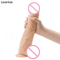 Loverkiss Long Realistic Huge Dildo with Suction Cup 12.6*2.2 inch Large Dick Fake Penis for Woman Super Big Anal Dildo Huge Toy