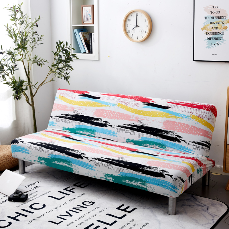 Universal Armless Sofa Bed Cover Slipcovers Sofa Tight Wrap All-inclusive Sofa Cover Without Armrest Folding Sofa