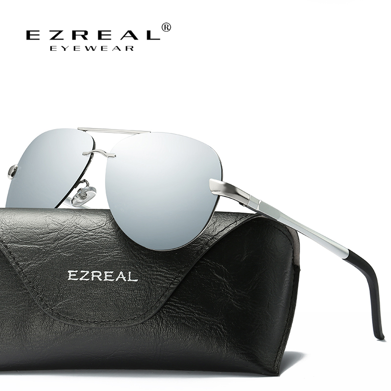 EZREAL Hot Brand Designer Polarized Men Sunglasses Male Driving Rimless Sun Glasses For Women Uv400 Eyewear oculos de sol