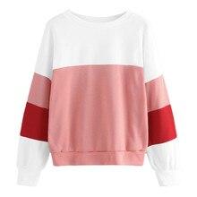 Womens Casual Pullover tops Autumn Winter Sweatshirts Long Sleeve Plus Velvet O-Neck Sweatshirt