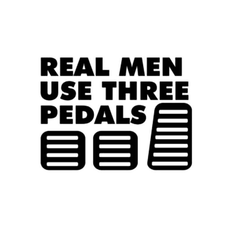 15.2CM*11.4CM Real Men Use Three Pedals Vinyl Sticker Decal Diesel Turbo Car Stickers And Decals Decoration Black Sliver C8-0948