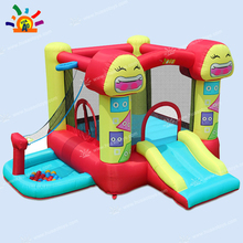 цена на Free Shipping Smiling Face Family Use Inflatable Mini Bouncer Yard Bouncer Playground with Free CE blower