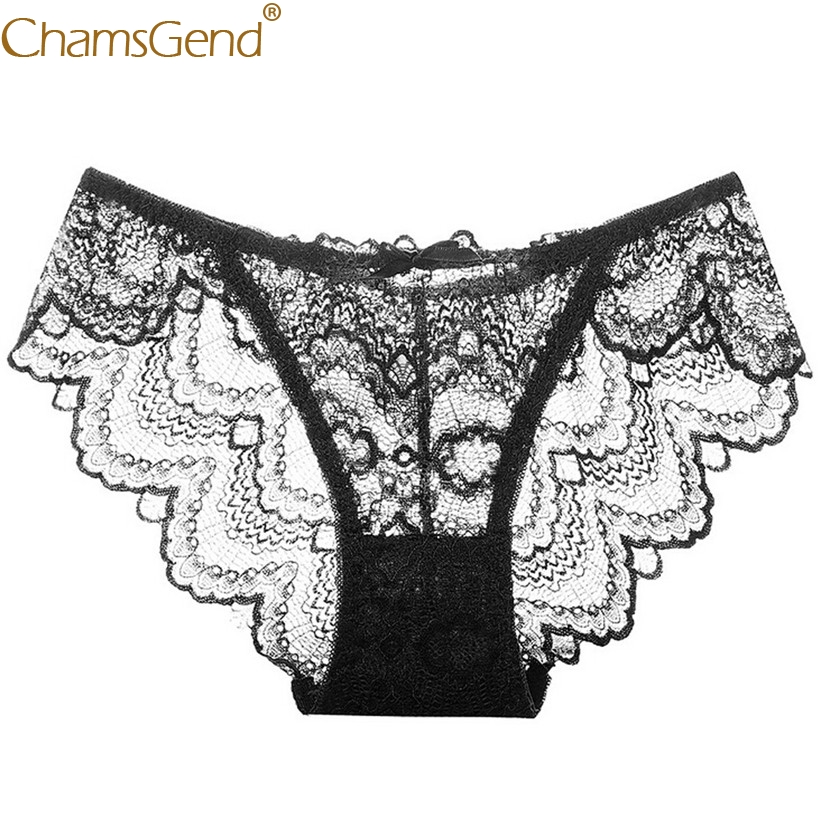 f61395ab1 Chamsgend Women Visible Underwear Sexy Ruffle Lace Transparent Panties  Woman Sexy Breathable G String Tanga Panty 80807-in Briefs from Underwear  ...