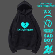 lil peep Luminous xxxtentacion the weekend lil uzi vert hoodies men pullover sweatshirt male rapper sad boy Stranger things rap(China)