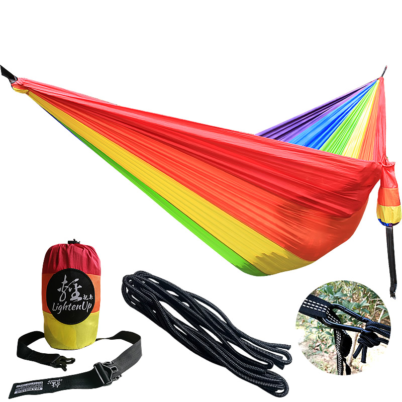 Double Hammock - 20-Colors Available - Going Outdoors Backpacking Camping Or Hiking? Get The Best Lightweight Parachute Hammock