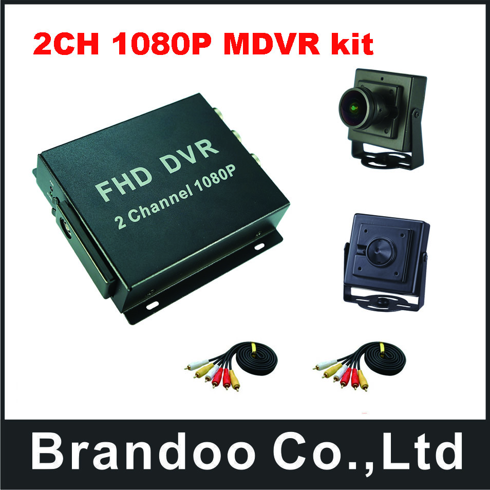 2CH 1080P mobile DVR kit for bus,car,taxi,school bus use.