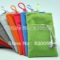 -Alto grau de veludo, two-tier estrutura, multicamadas tecido bolso de telefone celular bolsa para iphone 6 plus samsung galaxy note3 note2