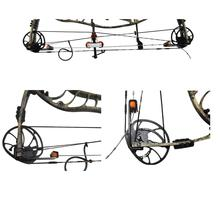 Universal Rostfritt Stål Utomhusjakt Bågskytte Bow Press och Quad Limb L Fästen för Compound Bow Tillbehör Verktyg Utrustning