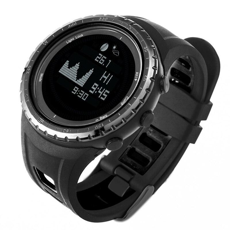 Relojes digitales impermeables SUNROAD para hombre con reloj de pulsera de escalada podómetro termómetro de fase luna-in Relojes deportivos from Relojes de pulsera    2