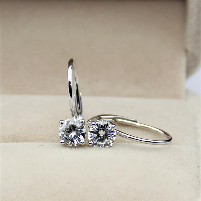 14K Gold 1CT Lab Grown Diamond Clip On Earrings