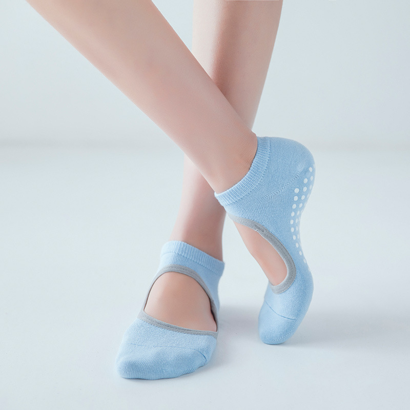 Hot Breathable Anti friction Women Yoga Socks Silicone Non Slip Pilates Barre Breathable Sports Dance Socks