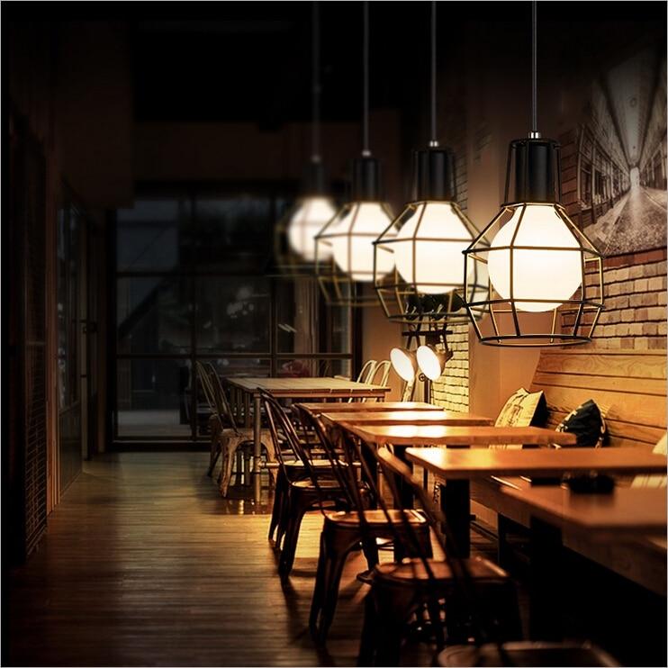 Retro Loft 5 Klatki żyrandol Nordic Kreatywnych Dekoracji