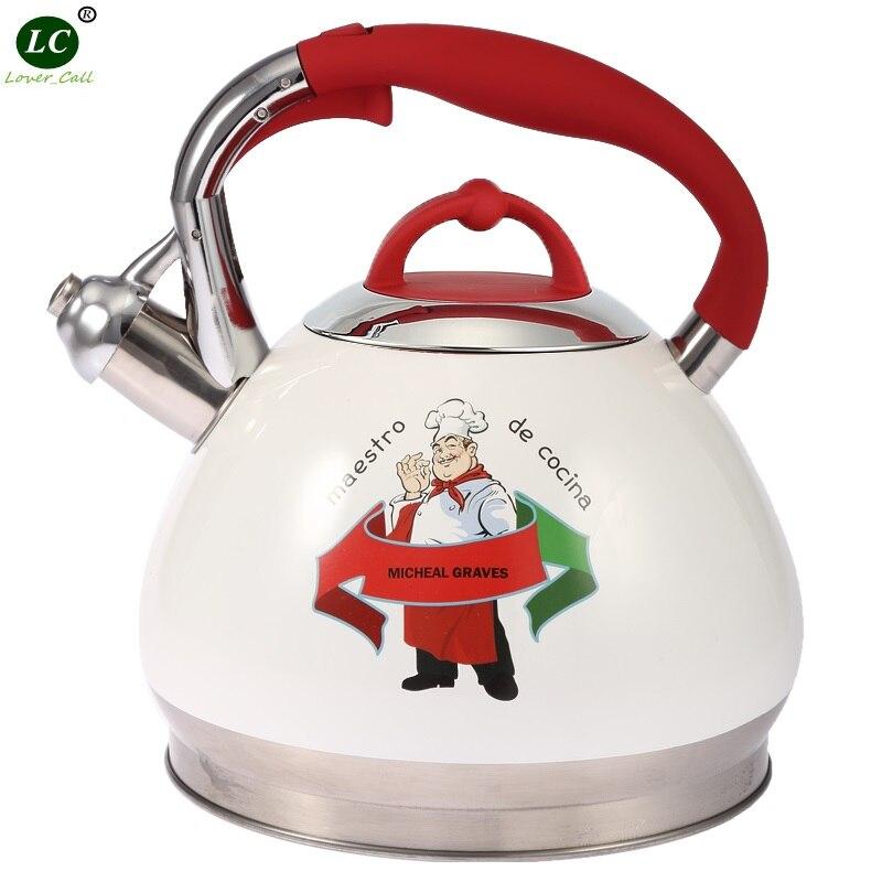 Teapot Whistling kettle 3 litre kettle stainless steel Water Bottle Spirant thickening ss#18/10 general