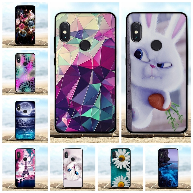 For Xiaomi Redmi Note 5 Pro Case Soft Silicone Black Cover Note5 3D Cute Coque Phone Cases