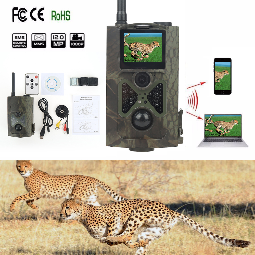 Здесь продается  HC550M HD 16MP Trail Camera MMS GSM GPRS SMS Control Trap photo Wild Camera With 48 IR LEDs Wildlife Camera For Hunting  Спорт и развлечения