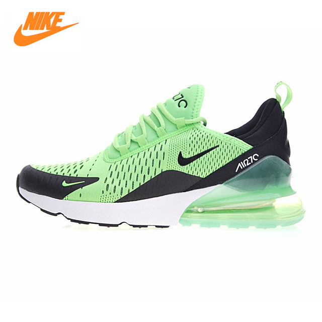 Nike Air Max 270 Women's Running Shoes ,Green Light Blue,Abrasion  Breathable Lightweight Increased