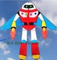 Бесплатная доставка высокое качество робот Планеты солдаты летающие кайт с ручкой линии ребенок любовь Астронавт открытый игрушки вэй воздушных змеев