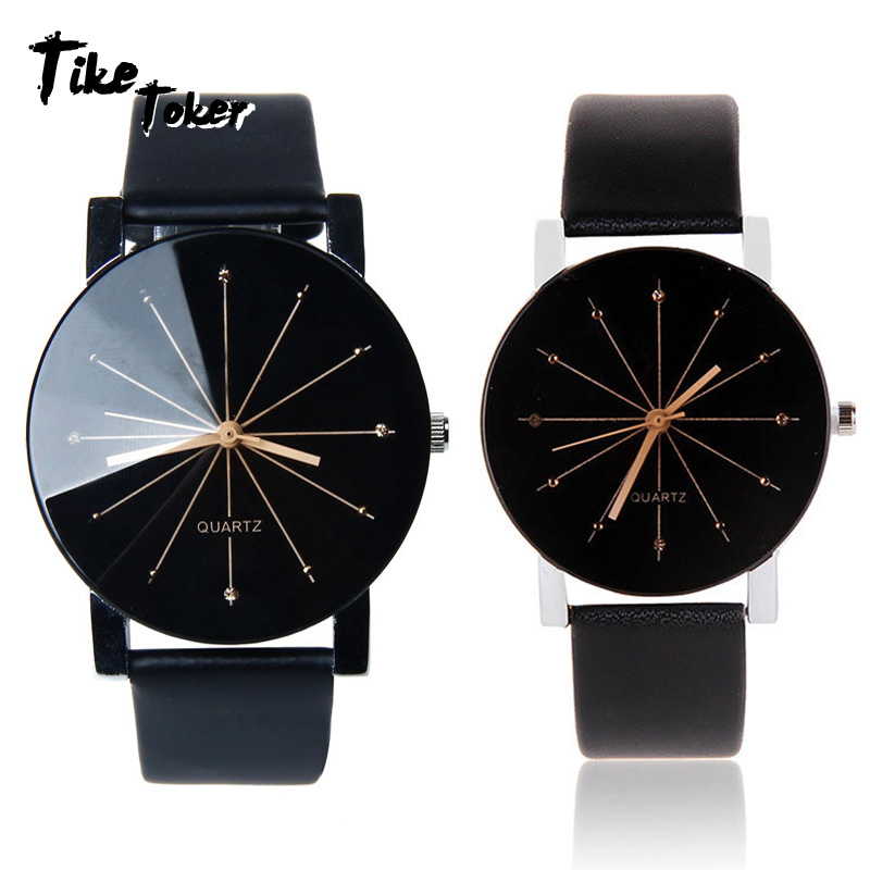 TIke Toker,2018 New Watches Women Leather Analog Quartz Watch Reloj Mujer Lady Round Case Time Clock Women's Luxury Design Wrist