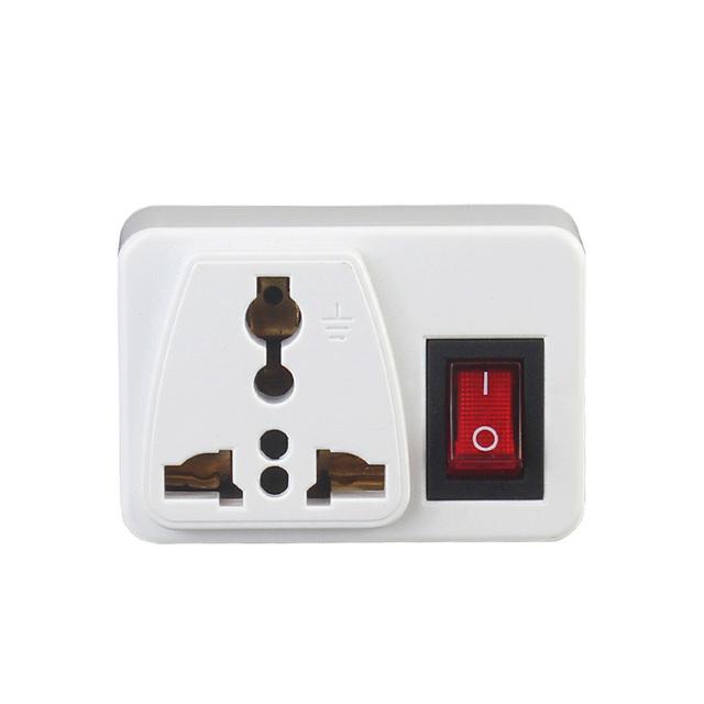 New Universal Electric Plug With On/Off Switch International Travel Charger Power Socket Adapter EU QJY99