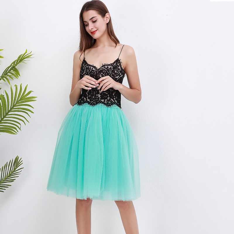Qualität 5 Schichten Mode Tüll Rock Plissee TUTU Röcke Womens Lolita Petticoat Brautjungfern Midi Rock Jupe Saias faldas