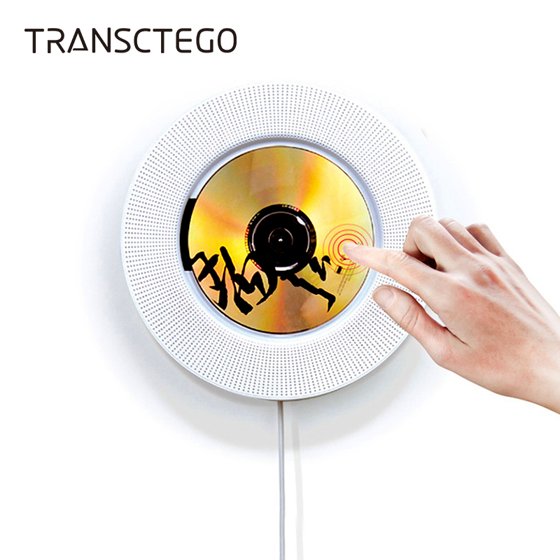 Wall Mountable Bluetooth CD Player Portable Speaker Pull Switch With Remote Speaker FM Radio USB Drive