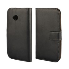 Cool Genuine Leather Stand Wallet Pouch Skin Cover Case for Motorola Moto
